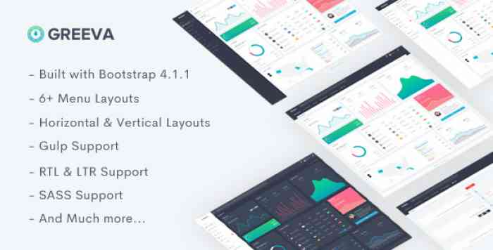 GREEVA – RESPONSIVE ADMIN DASHBOARD TEMPLATE