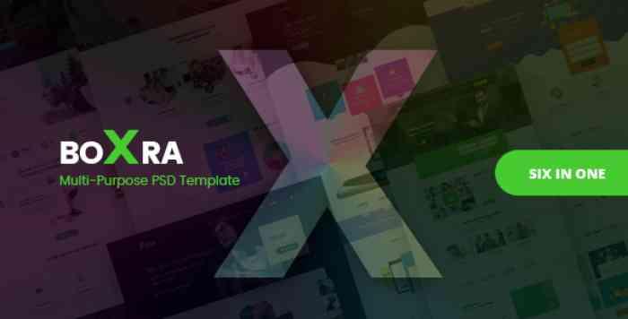 BOXRA – MULTIPURPOSE PSD TEMPLATE