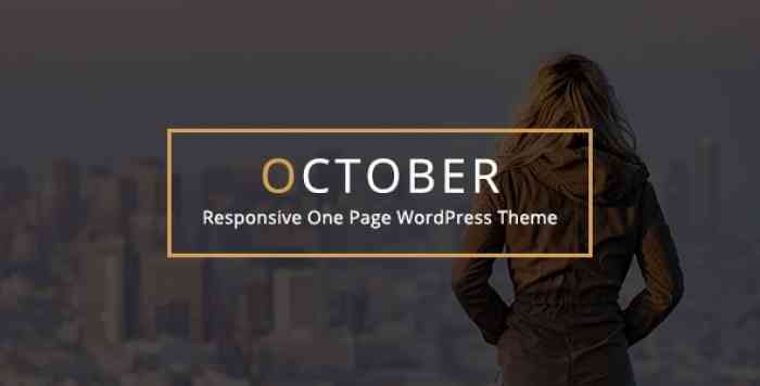 OCTOBER V2.1 – RESPONSIVE ONE PAGE WORDPRESS THEME