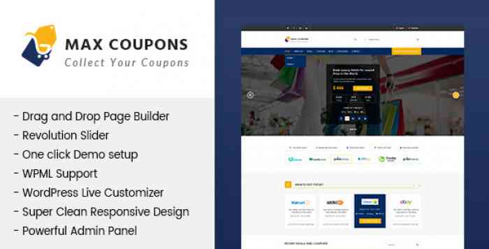 MAX COUPONS V1.2.2 – COUPONRY & DEALS WORDPRESS THEME