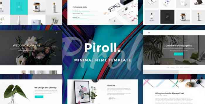 PIROLL – MINIMAL AND MODERN PORTFOLIO HTML TEMPLATE