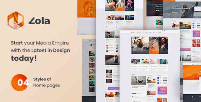 ZOLA V1.0 – CONCEPT MAGAZINE NEWS BLOGS PSD TEMPLATE