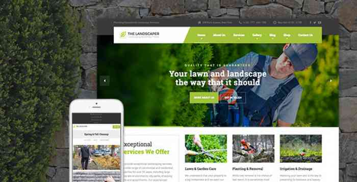 THE LANDSCAPER V1.6.1 – LAWN & LANDSCAPING WP THEME