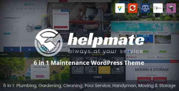 HELPMATE V1.1.1 – 6 IN 1 MAINTENANCE WORDPRESS THEME