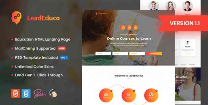 LEADEDUCO V1.1 – EDUCATION HTML LANDING PAGE TEMPLATE