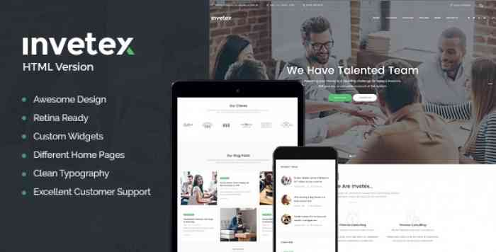 INVETEX V1.0 – BUSINESS CONSULTING & INVESTMENTS SITE TEMPLATE