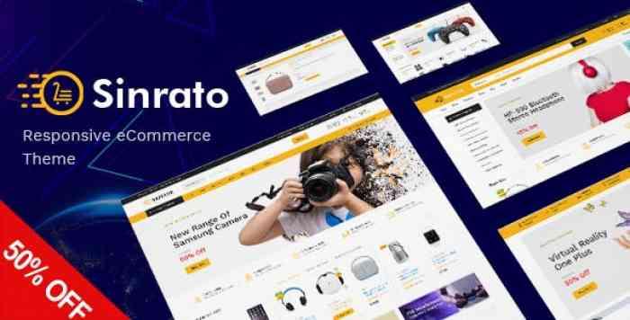 SINRATO V1.0 – MEGA SHOP RESPONSIVE MAGENTO THEME