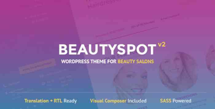 BEAUTYSPOT V2.4.4 – WORDPRESS THEME FOR BEAUTY SALONS