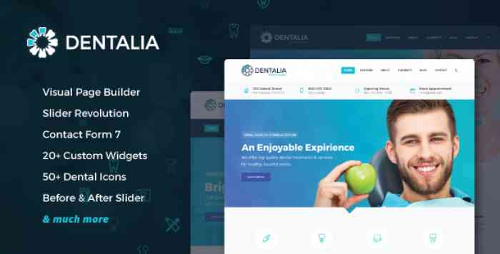 DENTALIA V1.6.0.2 – DENTIST & MEDICAL WORDPRESS THEME