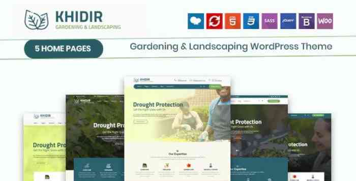 KHIDIR V1.0 – GARDENING & LANDSCAPING WORDPRESS THEME