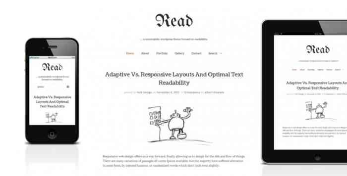 READ WP V4.4.8 – MINIMALIST WORDPRESS BLOG THEME