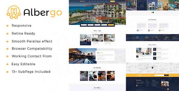 ALBERGO – HOTEL AND RESORT HTML5 TEMPLATE