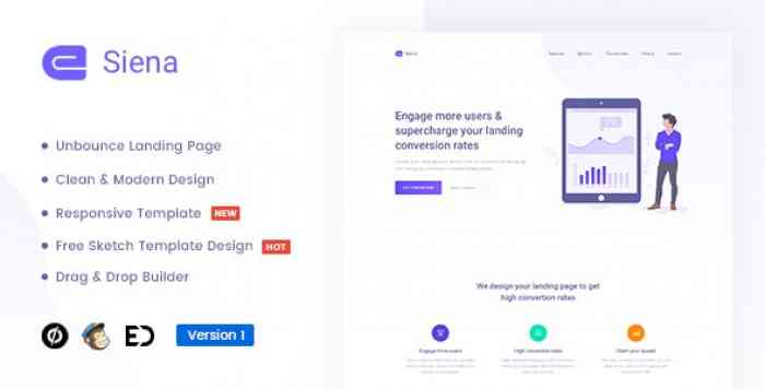 SIENA V1.0 – MARKETING UNBOUNCE LANDING PAGE TEMPLATE