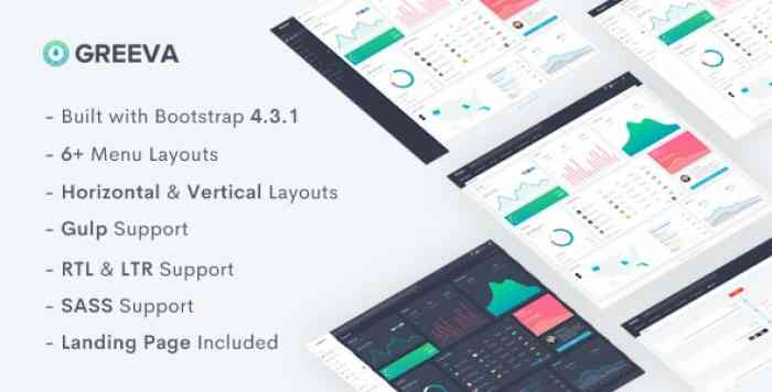 GREEVA V1.0 – ADMIN & DASHBOARD TEMPLATE
