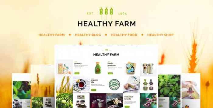 HEALTHY FARM V2.3 – FOOD & AGRICULTURE WORDPRESS THEME