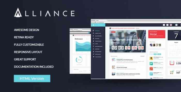 ALLIANCE V1.0 – INTRANET & EXTRANET HTML TEMPLATE