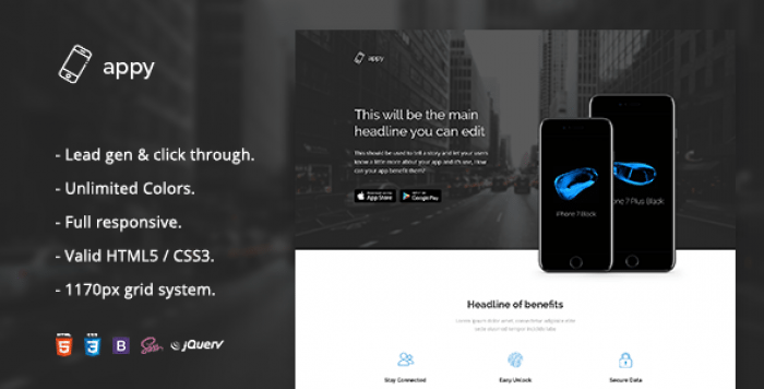 APPY – APP LANDING PAGE HTML TEMPLATE