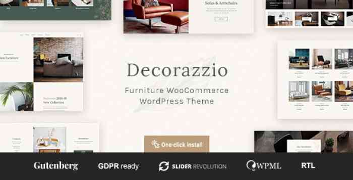 DECORAZZIO V1.0.1 – INTERIOR DESIGN AND FURNITURE STORE WORDPRESS THEME