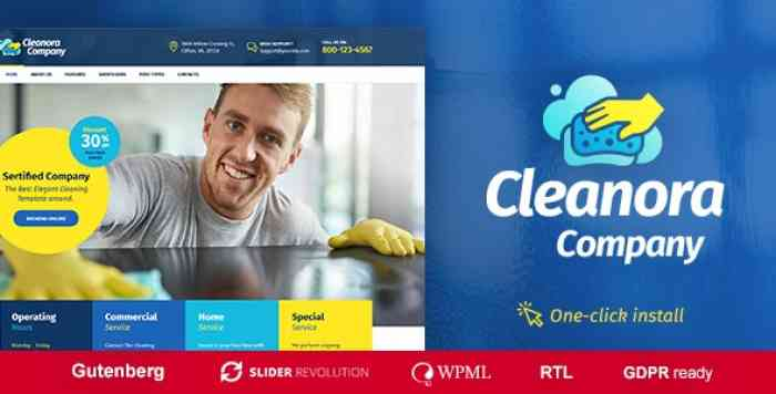 CLEANORA V1.0.3 – CLEANING SERVICES THEME