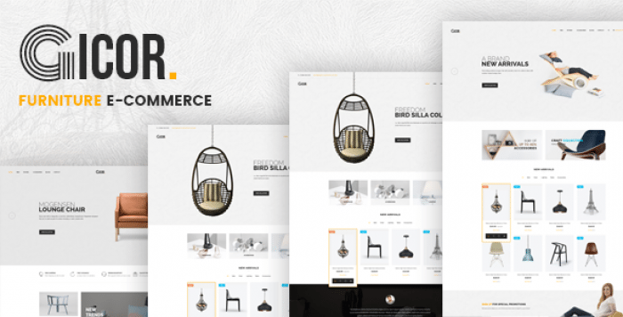 GICOR – FURNITURE OPENCART THEME (INCLUDED COLOR SWATCHES)