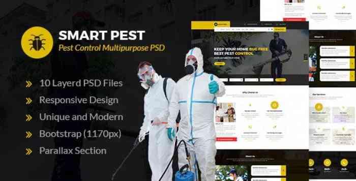 SMART PEST – PEST CONTROL MULTIPURPOSE PSD TEMPLATE