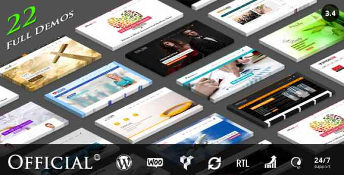 OFFICIAL V3.4 – WEBSITE WORDPRESS THEME + RTL