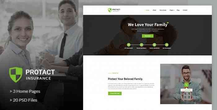 PROTACT – INSURANCE AGENCY & BUSINESS PSD TEMPLATE