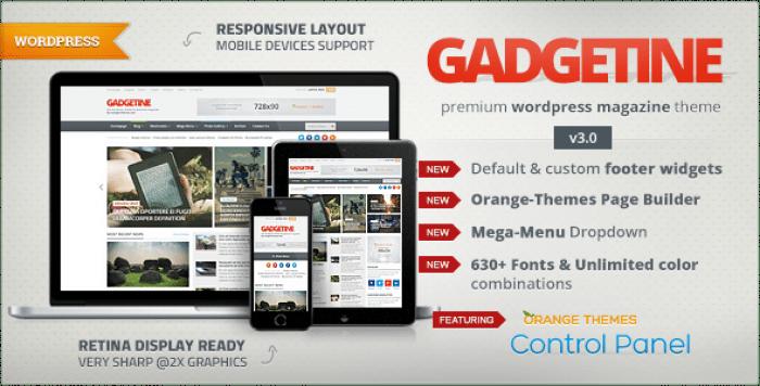 GADGETINE V3.1.0 – WORDPRESS THEME FOR PREMIUM MAGAZINE