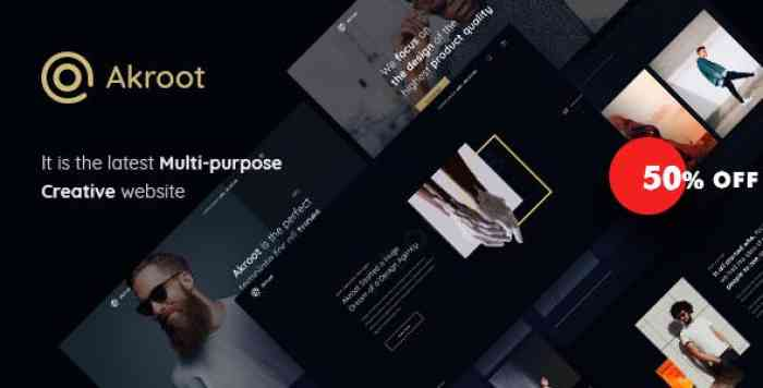 AKROOT V1.0 – IT IS THE MULTI-PURPOSE CREATIVE HTML5 TEMPLATE