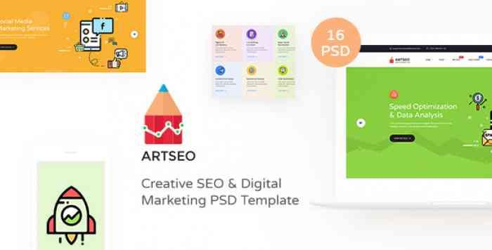 ARTSEO V1.0 – CREATIVE SEO & DIGITAL MARKETING PSD TEMPLATE