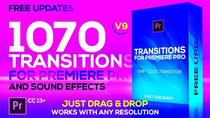 Videohive – Modern Transitions For Premiere PRO Free