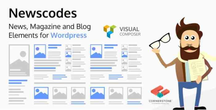 Newscodes v2.3.0 - News, Magazine and Blog Elements for WordPress