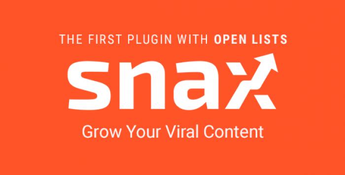 Snax v1.14.3 – Viral Front-End Uploader