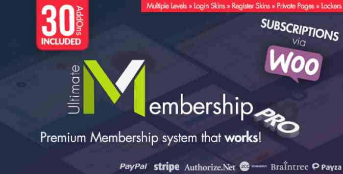 Ultimate Membership Pro WordPress Plugin v7.3