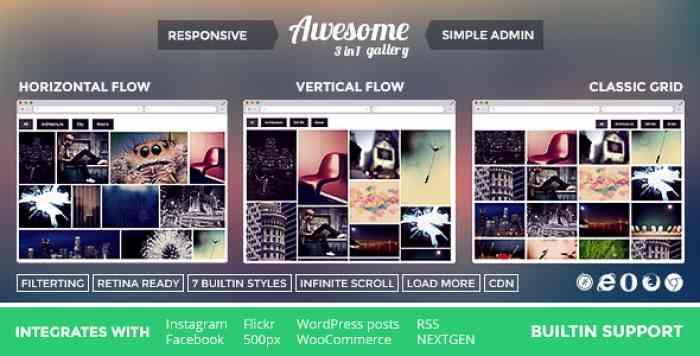 Awesome Gallery v2.2.3 - Instagram, Flickr, Facebook galleries