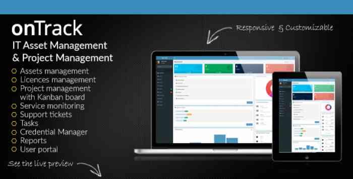 onTrack v1.14 - IT Asset Management & Project Management