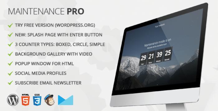 Maintenance PRO v3.6.2 – WordPress plugin