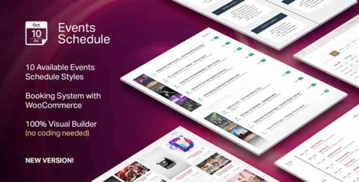 Events Schedule v2.5.4 - WordPress Plugin