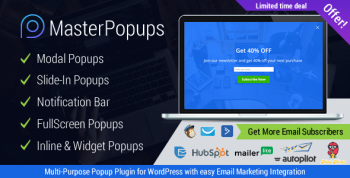 Master Popups v2.5.2 - Popup Plugin for Lead Generation