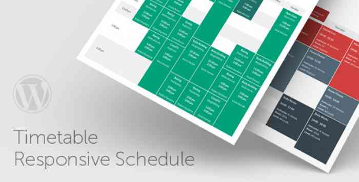 Timetable Responsive Schedule v5.6