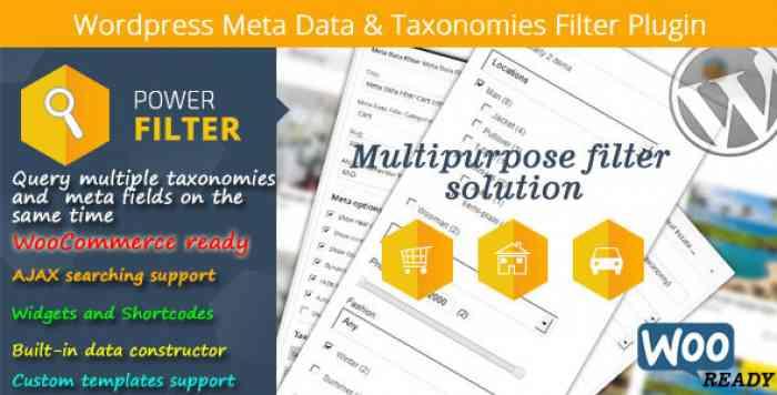 Wordpress Meta Data & Taxonomies Filter v2.2.5
