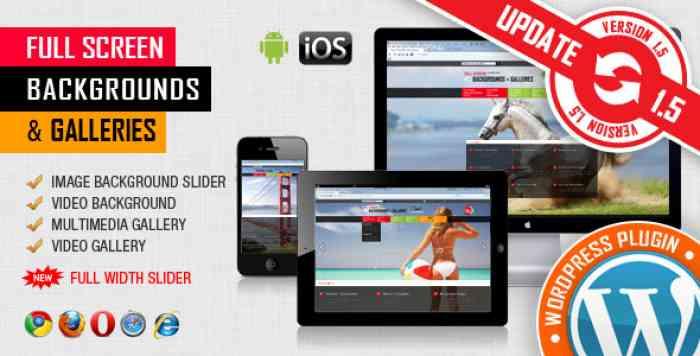 Image & Video FullScreen Background Plugin v1.5.3.3