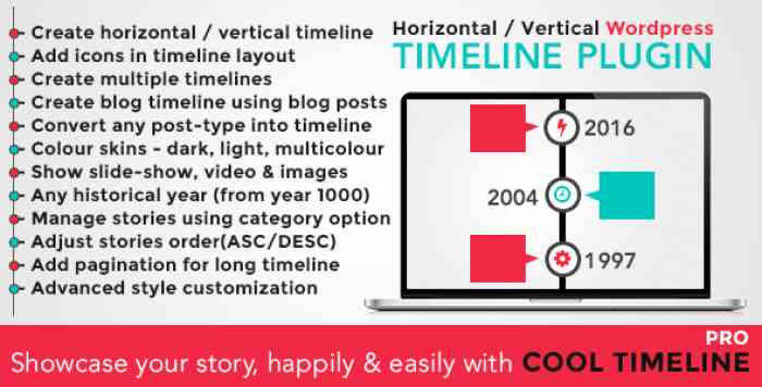 Cool Timeline Pro v2.8.2 - WordPress Timeline Plugin