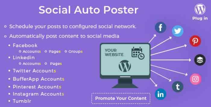 Social Auto Poster v2.8.5 - WordPress Plugin