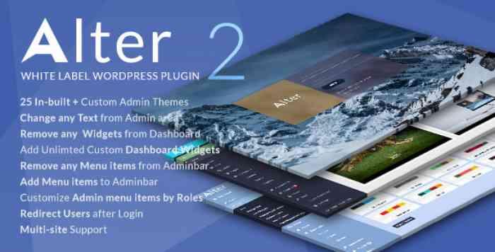 WpAlter v2.3.3 - White Label WordPress Plugin
