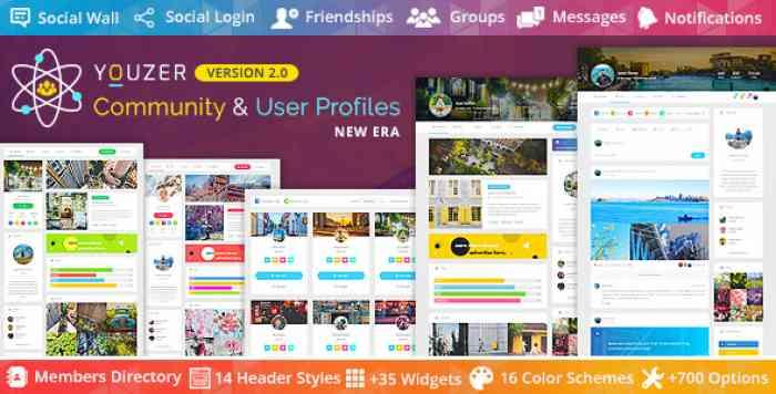 Youzer v2.1.8 - Buddypress Community & User Profiles