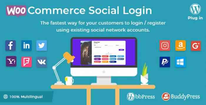 WooCommerce Social Login v1.8.7 - WordPress plugin