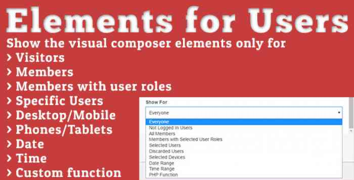 Elements for Users v1.5.2 - Addon for Visual Composer