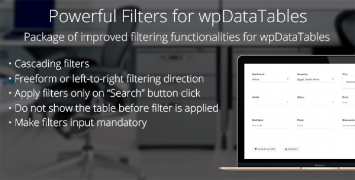 Powerful Filters for wpDataTables v1.0.3 - Cascade Filter for WordPress Tables