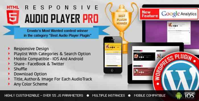 Responsive HTML5 Audio Player PRO v2.4.3.2